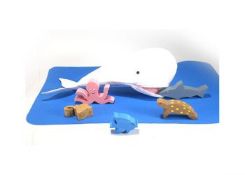 White Whale with Sea Animals