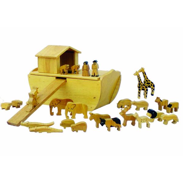 Noahs Ark Wood With 24 Animals